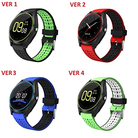 Amazon.com: V9 Bluetooth Smart Watch With Camera Smartwatch ...