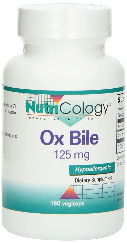 Amazon com: Ox Bile 125 mg 180 Capsules: Health & Personal Care