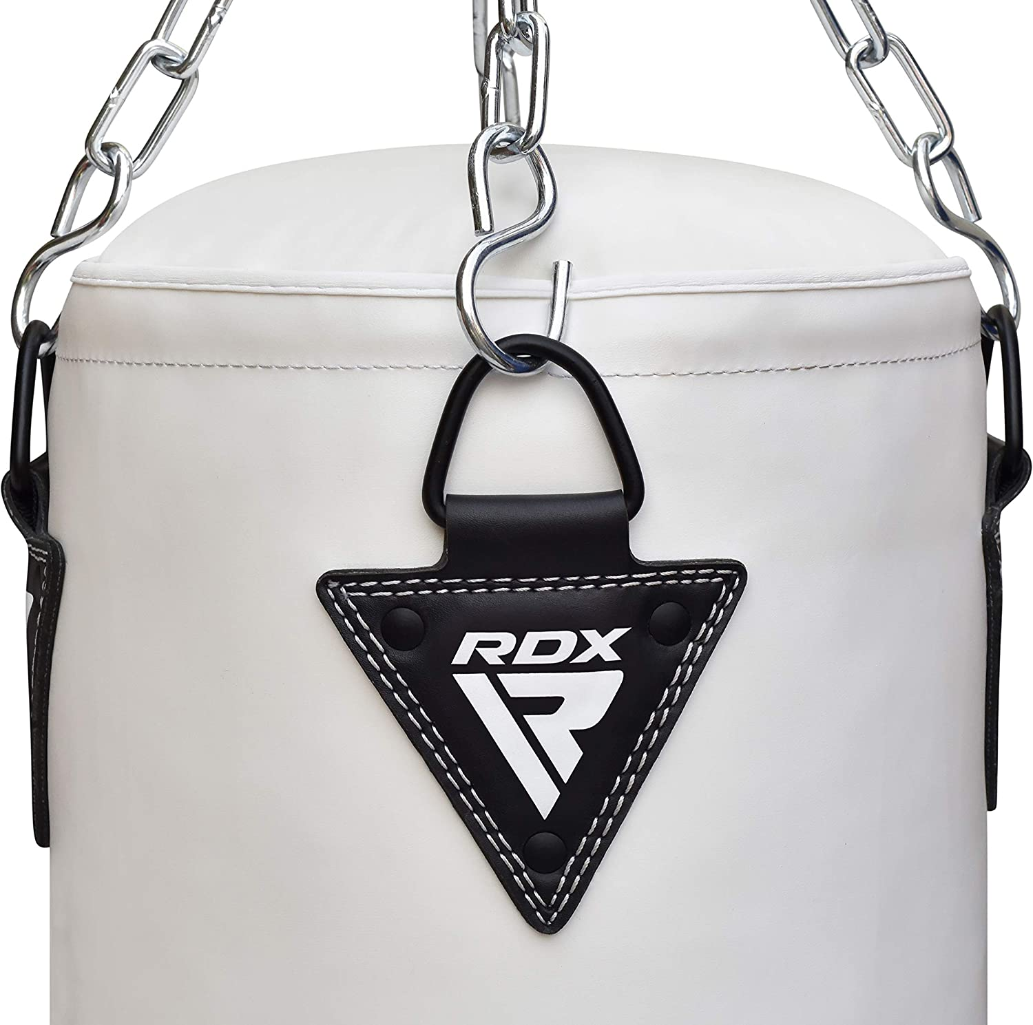 RDX Punching Bag UNFILLED Set Muay Thai Training Gloves with Punch Mitts Hanging Chain Ceiling Hook, Ideal for MMA, Kick Boxing, Martial Arts, 4PC Available in 4FT 5FT : Sports & Outdoors