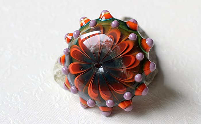 handmade heady glass pendant with sterling silver bail - Heady Glass Pendants