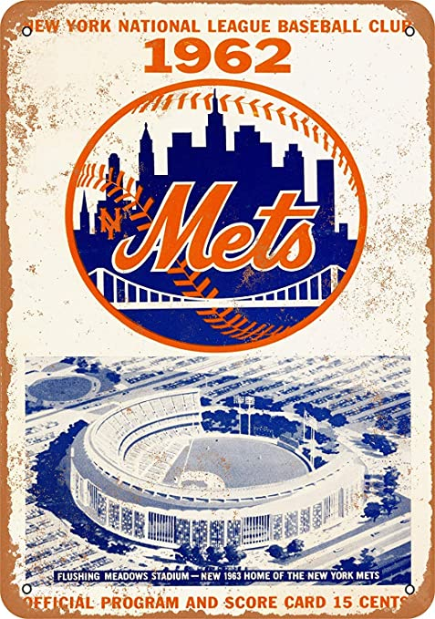 HiSign New York Mets Retro Cartel de Chapa Coffee Póster Bar ...