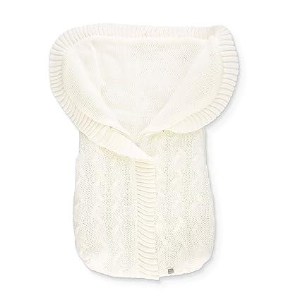 Saco Abrigo de Punto para Capazo del Bebé - Trenzas Beige