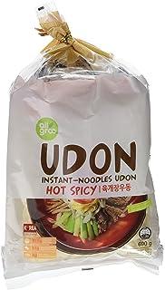 Allgroo Fideos Instantáneos Udon, Picante - Paquete de 12 x 690 gr - Total: