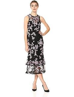 13808054fc04 Amazon.com: Shoshanna Women's Reika Sleevless High-Low Dress, Navy ...