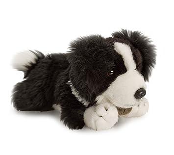 Lashuma Plüschtier Hund Border Collie Keel Toys Kuscheltier Schwarz
