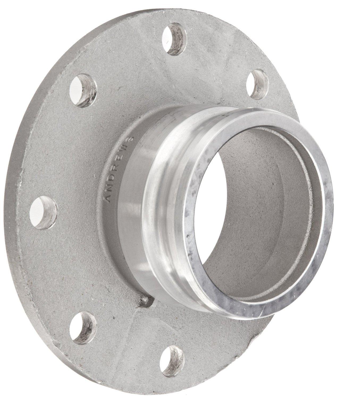 Dixon 600-AL-AL Aluminum Cam and Groove Hose Fitting, 6'' Plug x 150# ASA Flange