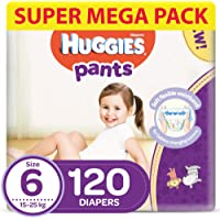 Huggies Active Baby Pants - Size 6, 15-25 kg, 120 Diapers Pants