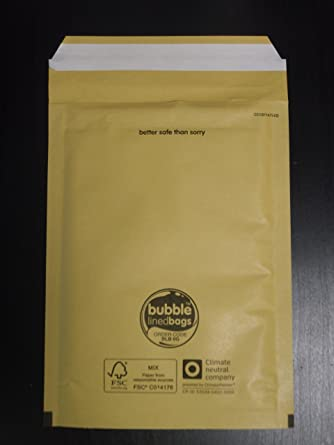 Bolsas con forro de burbujas doradas con sobres acolchados ...
