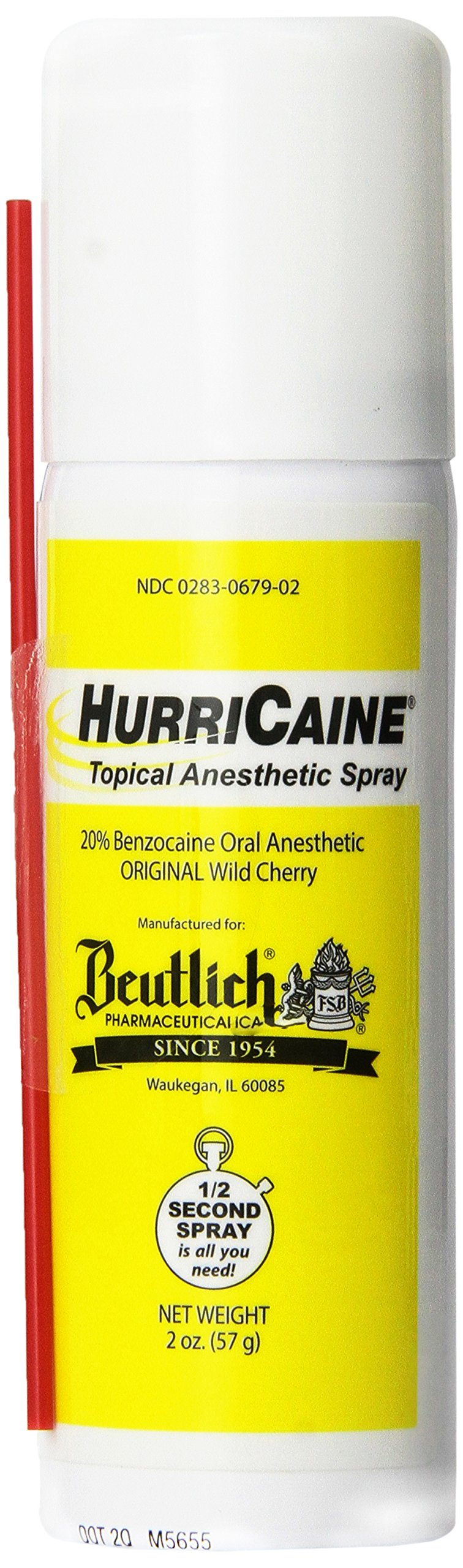 Beutlich LP Pharmaceuticals Hurricaine Topical Anesthetic 2 oz Wild Cherry