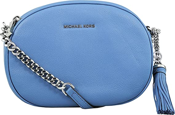 78a3820f49e184 Amazon.com: MICHAEL Michael Kors Ginny Medium Messenger Denim ...