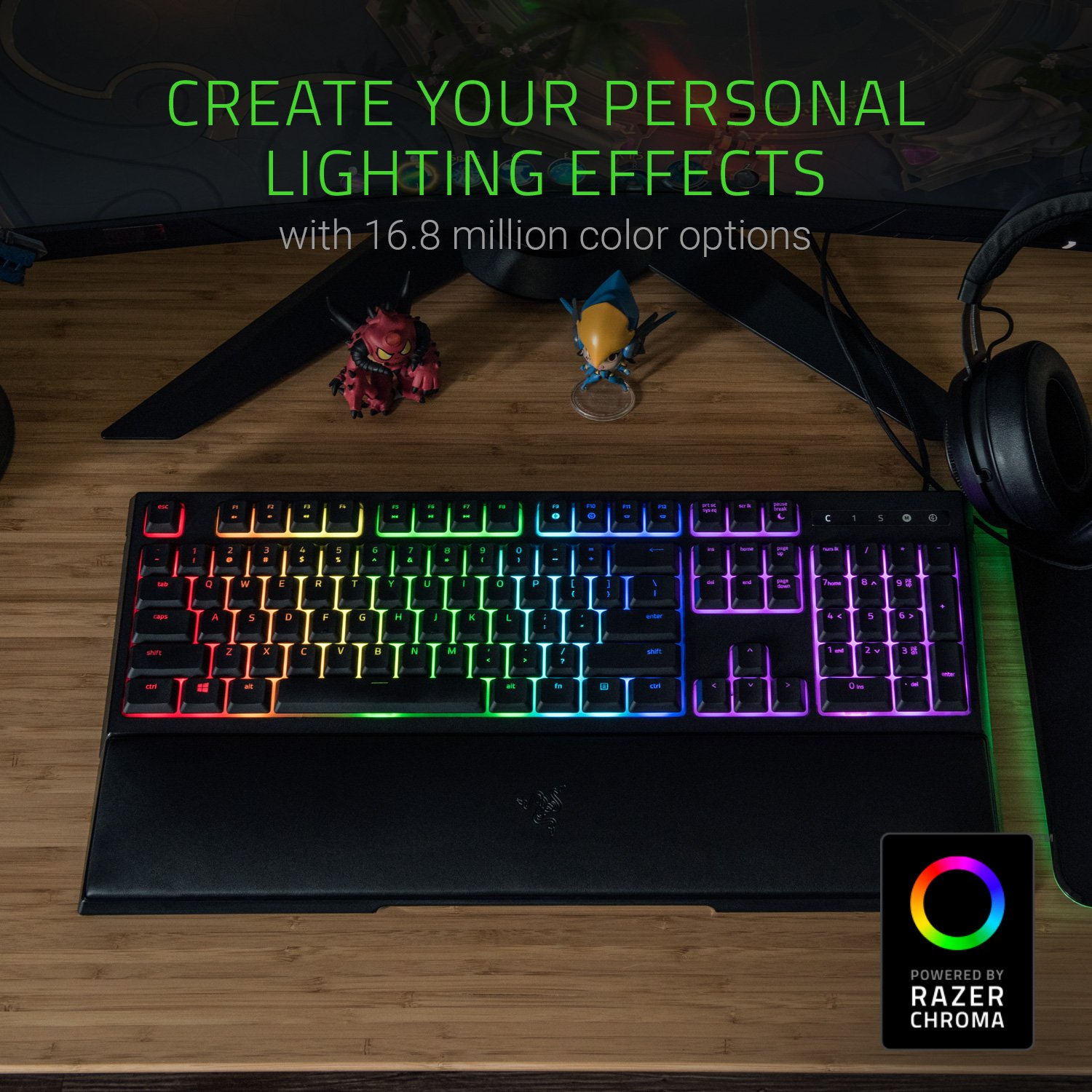 5d75aa4e648 Amazon.com: Razer Ornata Chroma Gaming Keyboard: Mecha-Membrane Key  Switches - Customizable Chroma RGB Lighting - Individuallly Backlit Keys -  Detachable ...