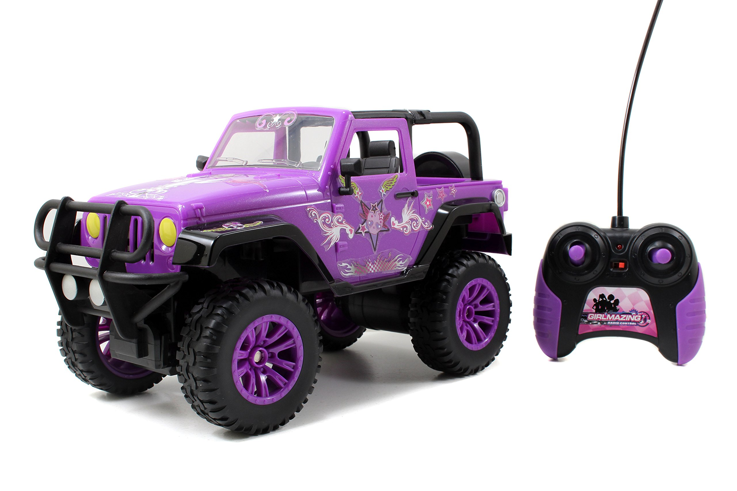Jada Toys GIRLMAZING Big Foot Jeep R/C Vehicle (1:16 Scale), Purple by Jada Toys (Image #5)