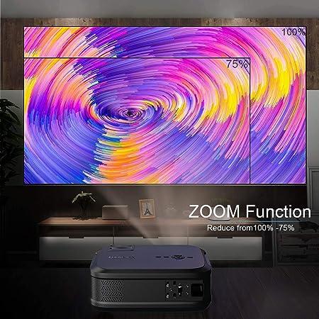 KOOLEVER - Proyector de vídeo (6800 lúmenes, Full HD, 1080P, retroproyectado, 8000:1, LED 78.000 horas de cine en casa, PS4 HDMI/VGA/AV/USB): Amazon.es: Electrónica
