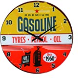 Out of the blue 79/3221 Glas-Wanduhr, Gasoline, Durchmesser circa 30 cm für 1 Mignon Batterie (AA)