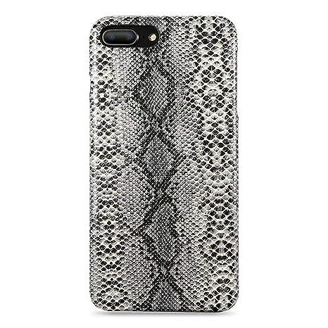 Carcasa rígida para iPhone 6 6 S Plus X XS MAX 5 5S, diseño de Piel de Serpiente
