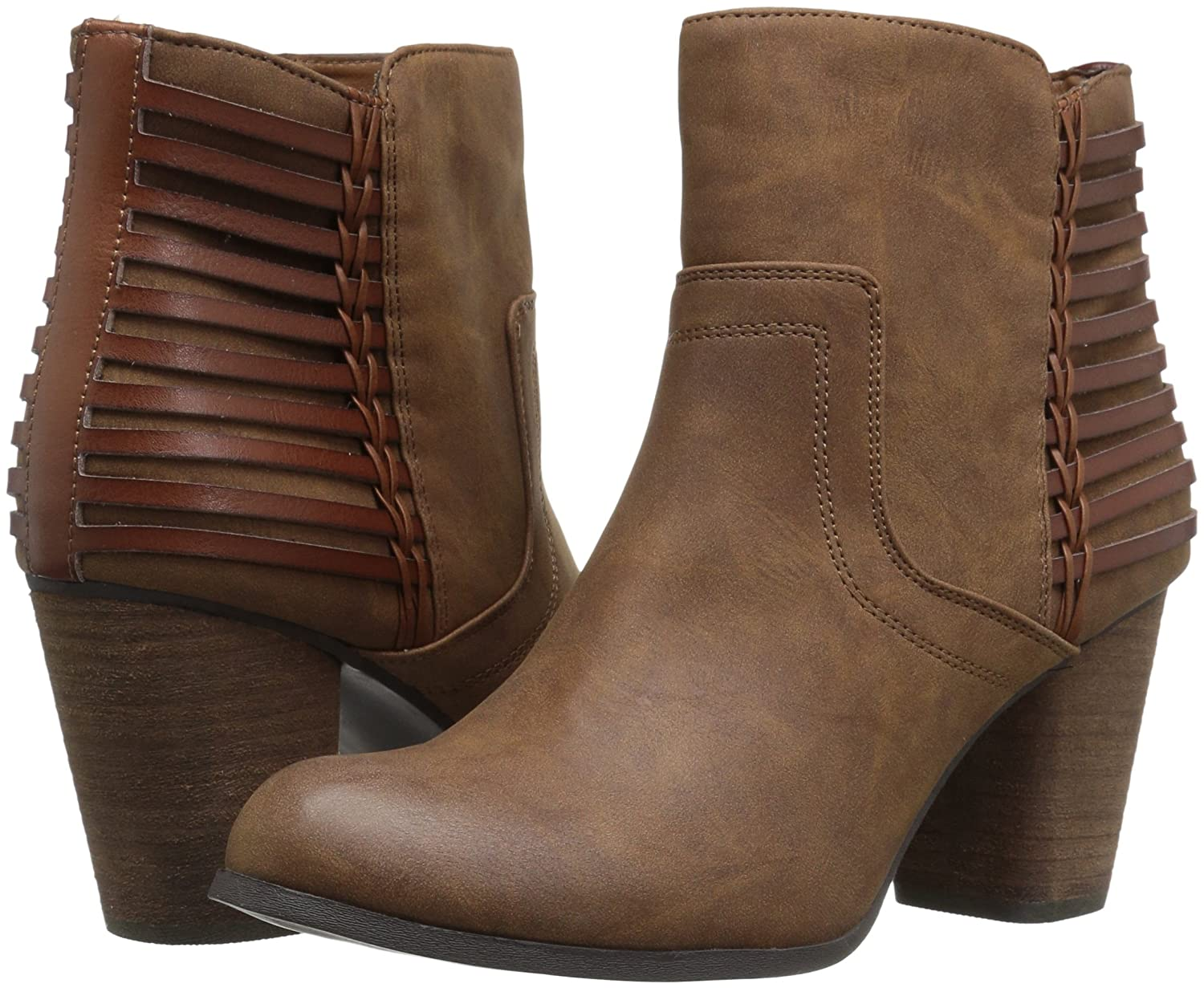 Madden Girl Women's B(M) Dusk Ankle Boot B005AVCP8O 7.5 B(M) Women's US|Cognac Paris 6d58cc