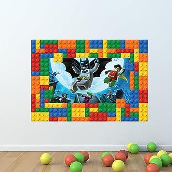 Wall Smart Designs Batman Lego Briques Cadre Complet Multicolore Art