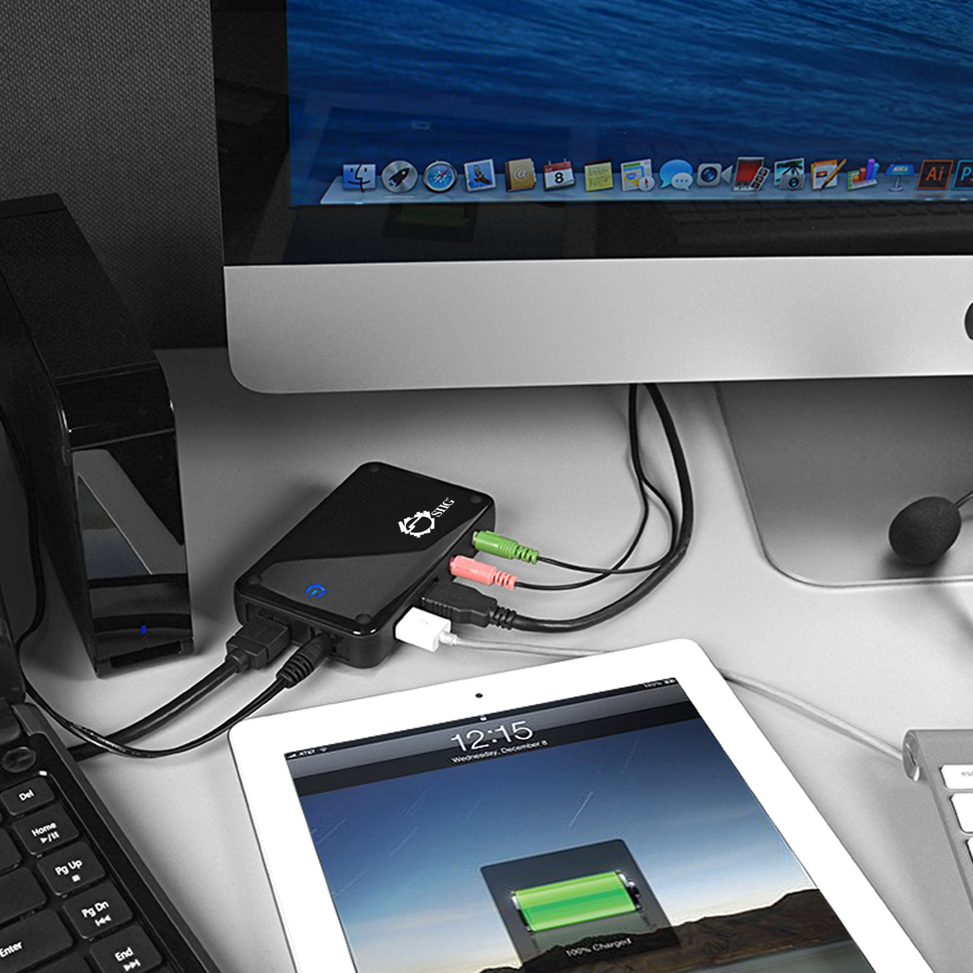 SIIG Portable USB 3.0 Dual Video Docking Station Adds HDMI or VGA Video Output, 2 USB 3.0 Ports