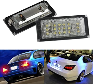 BMW E46 Convertible License Number Plate 3 SMD LED Light Bulbs