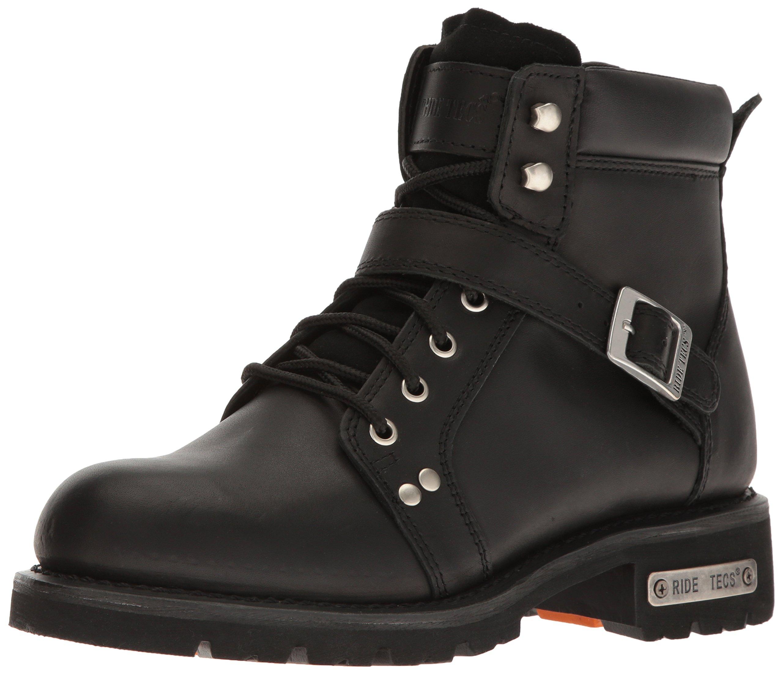 Ride Tec Men's 9143 6'' Lace Zipper Work Boot, Black, 11 W US