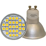 Long Life Lamp Company GU10 5 Watt Super Bright LED with New Chip Technology, Warm White 50w replacements