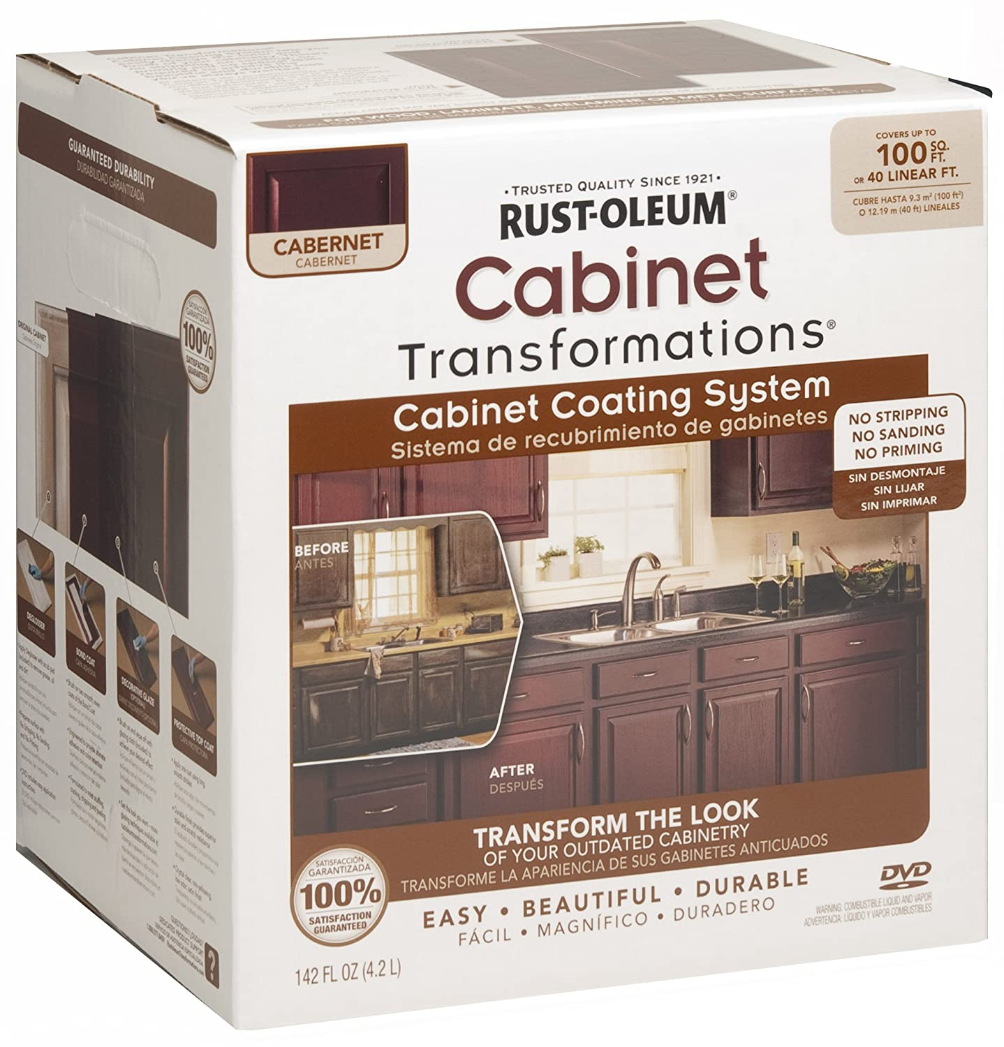 Home Depot Rustoleum Cabinet Rust Oleum 263233 Cabinet Transformations Small Kit Cabernet