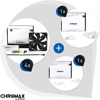 Chromax Paquet Blanc : 4x Noctua NF A14 PWM chromax.black