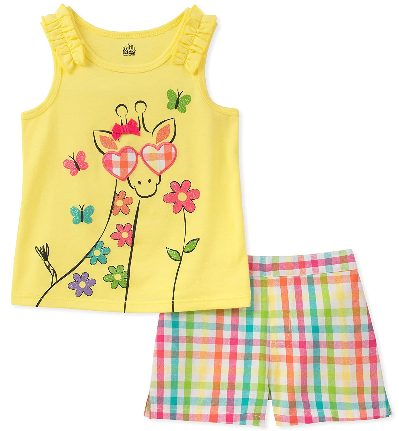 Kids Headquarters Girls' Toddler 2 Pieces Shorts Set 11E12082-99