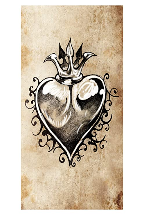LimeWorks Toalla de Baño, 70x140 cm, Corazón con Corona - Arte del ...