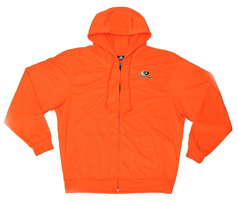 Men\'s Mossy Oak Full Zip Hoodie (XL) Orange at Amazon Men\'s Clothing ...