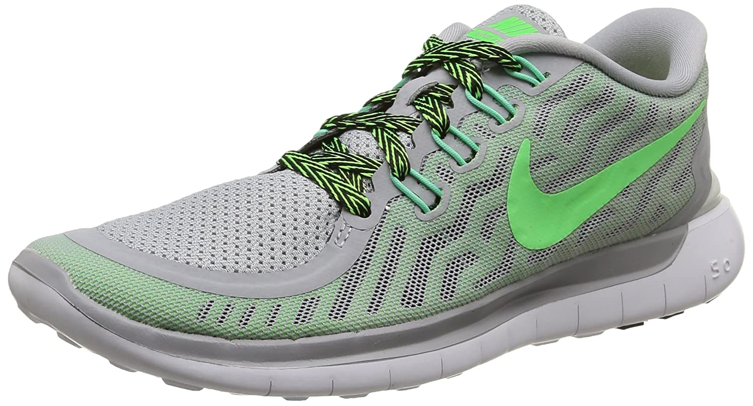 online store fdb7a 68b45 NIKE Womens Free 5.0 - Wolf Grey/Strike/Ghost Green/Voltage 724383-013