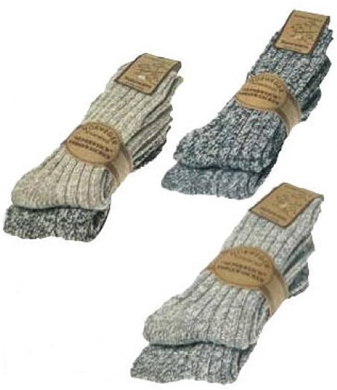 ch-home-design 2 pares de calcetines norwerge con lana de oveja, softgewaschen para hombre y mujer: Amazon.es: Ropa y accesorios