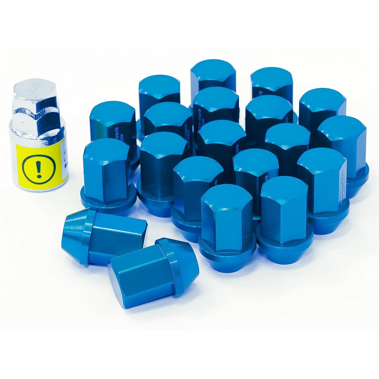 LYZER ジュラルミンナット 袋型 34mm 20本 【M12*P1.5 】ブルー DN-0020 B074XHWWR4