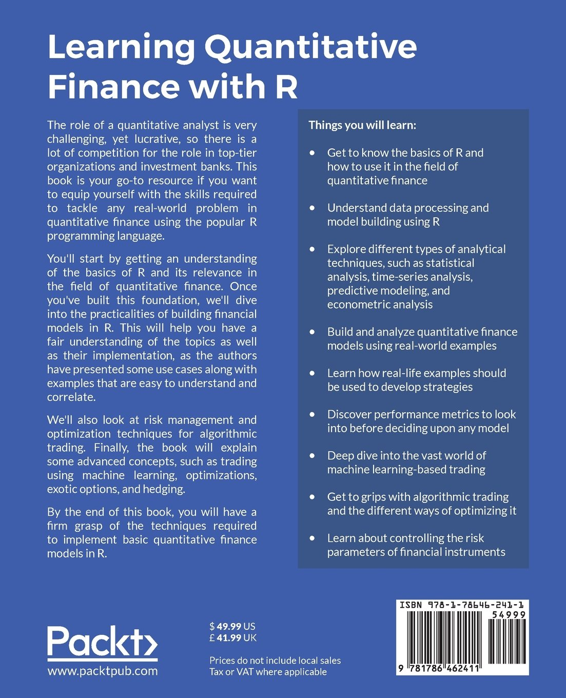 Learning Quantitative Finance with R: Dr  Param Jeet