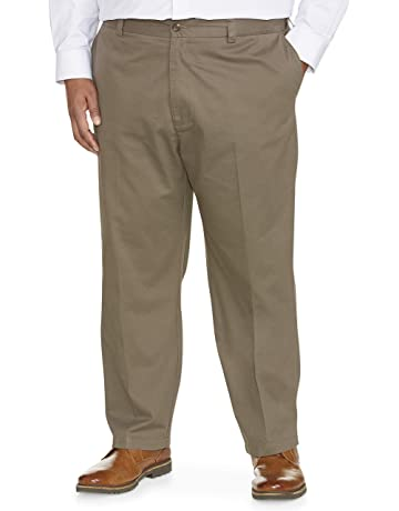 aebdc39d9267 Amazon Essentials Men's Big & Tall Loose-fit Wrinkle-Resistant Flat-Front  Chino