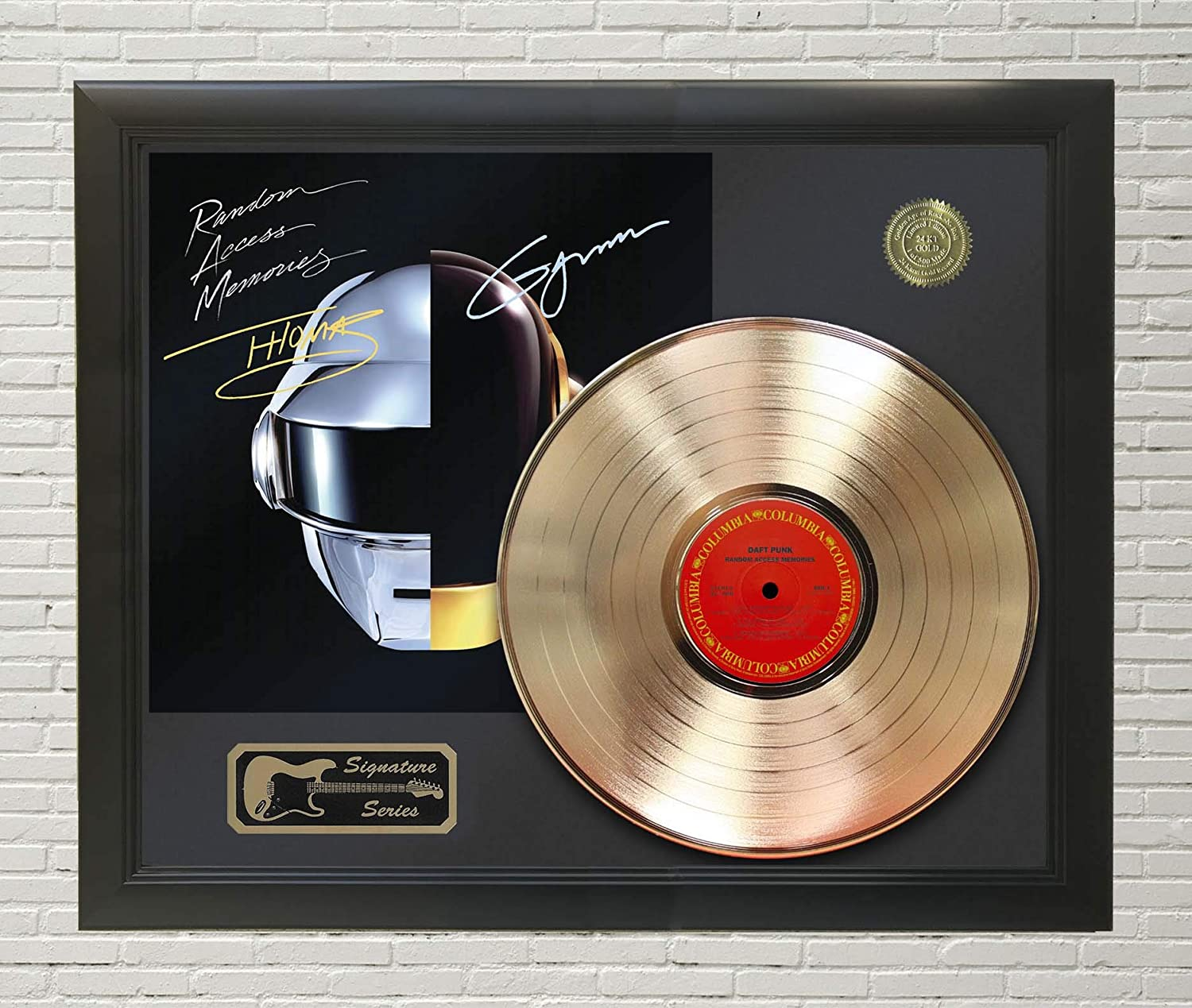 Daft Punk – Random Access Memories Framed Signature LP Record Display M4 at Amazon's Entertainment Collectibles Store
