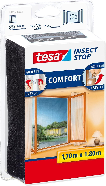 tesa Moustiquaire Comfort pour fen/êtres 1,3m x 1500mm blanc