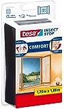 Malla mosquitera para ventanas tesa Insect Stop (1,7mx1,8m), negro