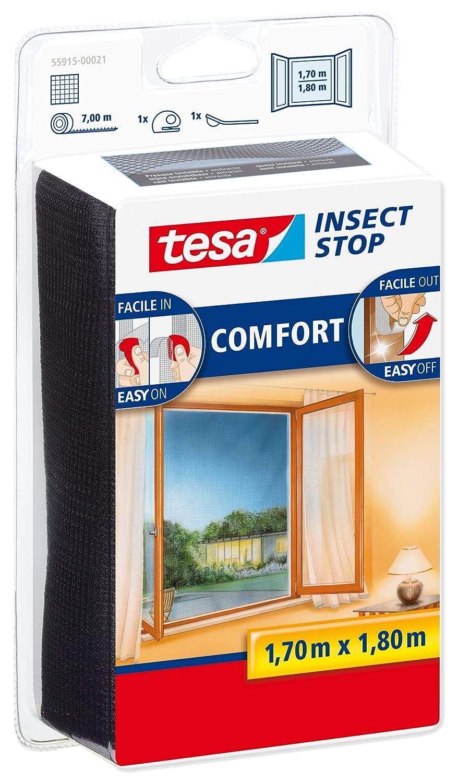 Malla mosquitera para ventanas tesa Insect Stop (1,7mx1,8m), negro 55915-00021-00