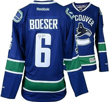 dd7659e7f0f Brock Boeser Vancouver Canucks Autographed Blue Reebok Premier Jersey -  Fanatics Authentic Certified