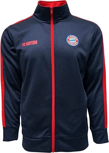 FC BAYERN MUNICH Official Merchandise by HKY Sportswear Men/'s Mock Neck Light-Weight Track Jacket