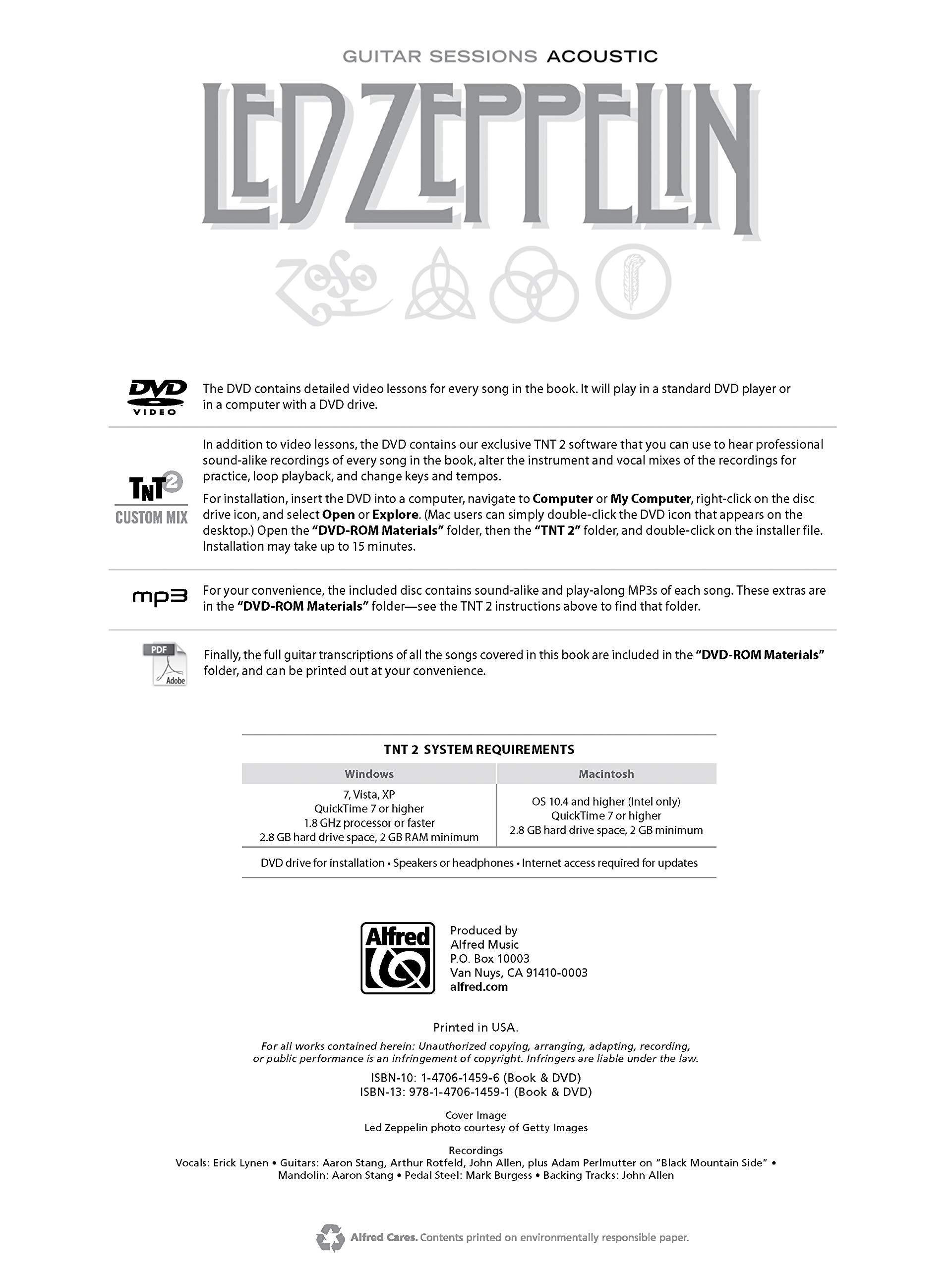 Guitar Sessions -- Led Zeppelin Acoustic: Book & DVD: Amazon.es ...