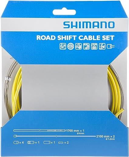 Bike Shimano Sis Derailleur Cable /& Housing Kit Road // Yellow