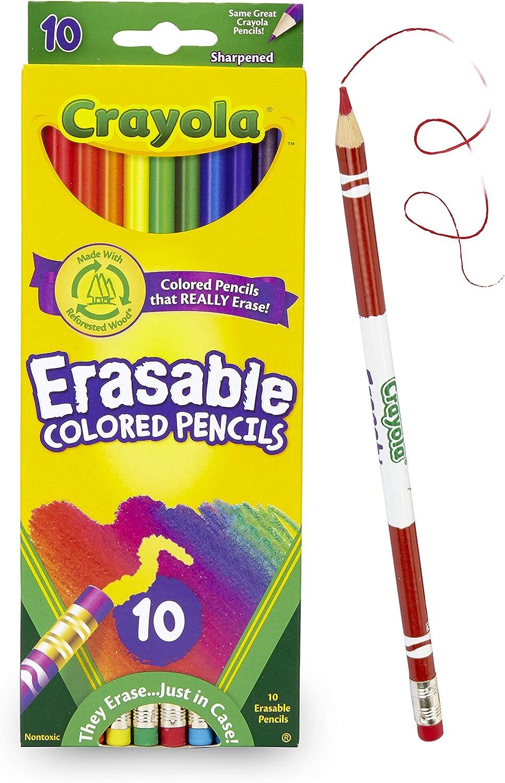 Crayola Erasable Colored Pencils, 10 Count, School Supplies: Toys & Games