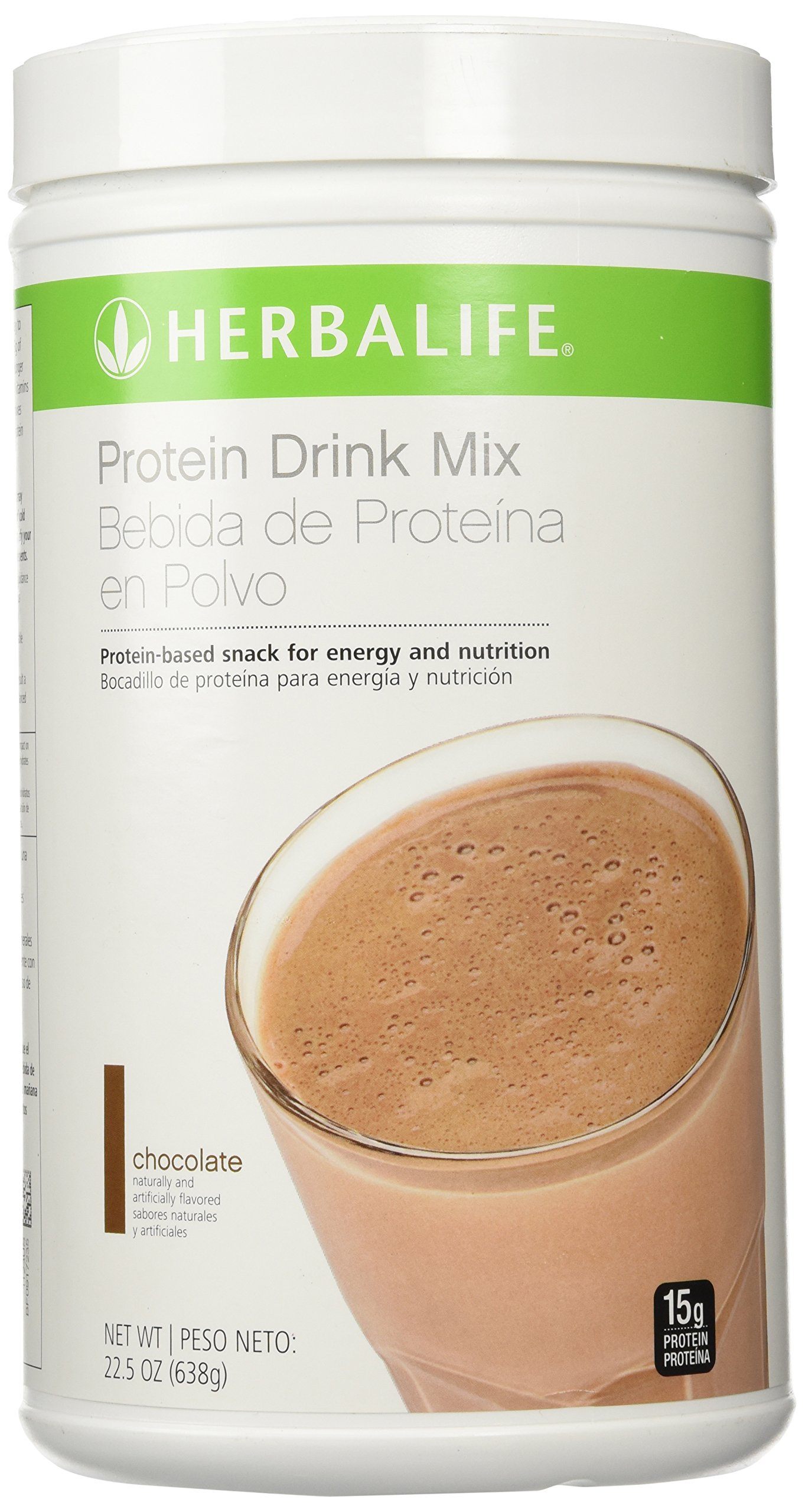 Herbalife Protein Drink Mix Chocolate 22.5oz Canister