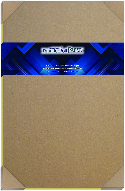 25 Pieces 30pt 8 1//2 x 11 Brown Kraft Cardboard Chipboard