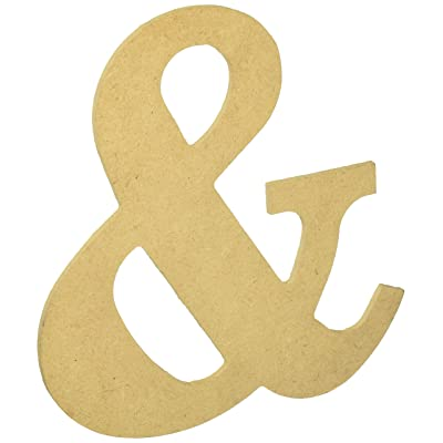 """Things for You MDF Classic Font Wood Letters & Numbers 9.5""""-&: Toys & Games"""