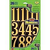 "Hy-Ko Products MM-5N Self Adhesive Vinyl Numbers 3"" High, Black & Gold, 26 Pieces"
