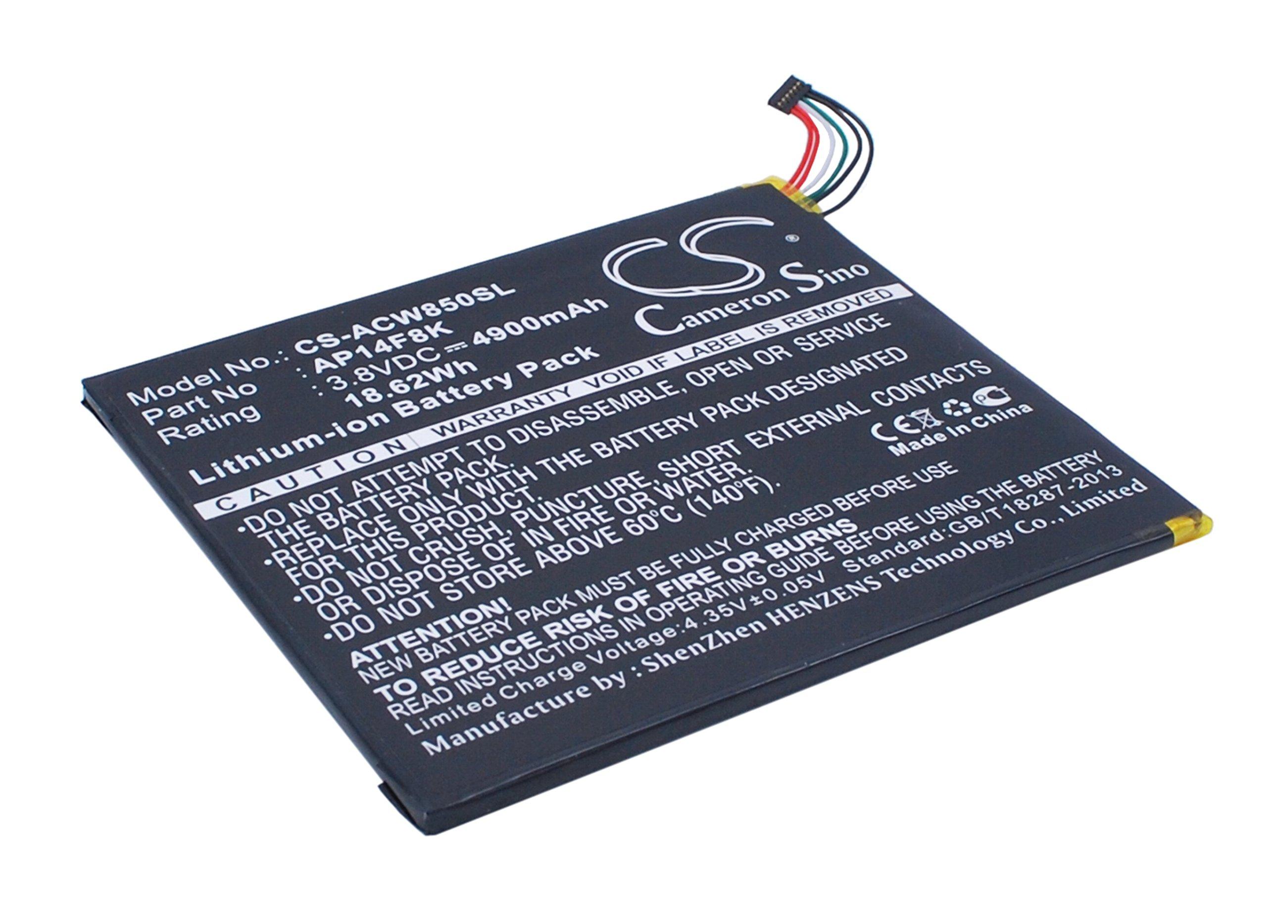 4900mAh X-Longer Tablet Battery for Acer A1-840, A1-850-A1410, A1-860 (AP14F8K, AP14F8K (1ICP4/101/110))