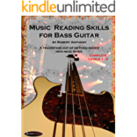 Music Reading Skills for Bass Guitar Complete Levels 1 - 3 book cover